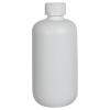 12 oz. HDPE White Boston Round Bottle with 24/410 CRC Cap