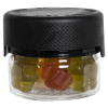 1 oz./30cc Clear PET Aviator Container with Black CR Cap & Seal