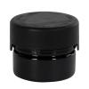 1 oz./30cc Black PET Aviator Container with Black CR Cap & Seal