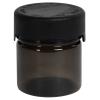 2 oz./60cc Translucent Black PET Aviator Container with Black CR Cap & Seal