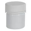 2 oz./60cc White PET Aviator Container with White CR Cap & Seal