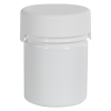 3 oz./90cc White PET Aviator Container with White CR Cap & Seal