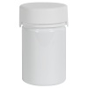 4 oz./120cc White PET Aviator Container with White CR Cap & Seal