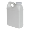 16 oz. White Fluorinated F-Style Jug with 33/400 Plain Cap