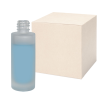 1 oz. Frosted Tall Cylinder Glass Bottle with 18/415 Neck - Case of 88 (Cap Sold Separately)