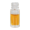 1/6 oz. Clear Glass Roll-On Bottle with 17mm Neck (Accessories Sold Separately)