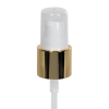 "20/400 White/Gold Smooth Long Shell Treatment Pump - 3-1/4"" Dip Tube"