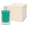 30mL Clear Square Glass Bottle with 18/415 Neck - Case of 168 (Cap Sold Separately)
