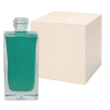 50mL Clear Square Glass Bottle with 18/415 Neck - Case of 168 (Cap Sold Separately)