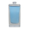 100mL Clear Tall Rectangle  Glass Perfume Bottle with 15mm Neck - Case of 72 (Cap Sold Separately)