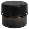 7.5 oz./225cc Translucent Black PET Aviator Container with Black CR Cap & Seal
