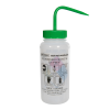 500mL (16 oz.) Scienceware® Ethyl Acetone Safety-Vented & Labeled Wide Mouth Wash Bottle with Green 53mm Cap