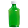 12 oz. Green Oval Liquid Bottle with 28mm CR Cap