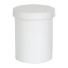 8 oz. White Polypropylene Round Ointment Jar with Cap