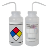 1000mL (32 oz.) Scienceware® LYOB (Label Your Own) Wide Mouth Safety-Labeled Wash Bottle with 53mm Caps