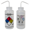 1000mL (32 oz.) Scienceware® Ethanol Wide Mouth Safety-Labeled Wash Bottle with Natural 53mm Cap