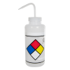1000mL (32 oz.) Scienceware® Label Your Own Safety-Vented & Labeled Wide Mouth Wash Bottle with Natural 53mm Cap