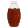 18 oz. PET Inverted Oval Sauce Bottle with 38/400 Neck (Cap Sold Separately)