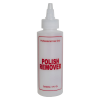 "4 oz. Natural HDPE Cylinder Bottle with 24/410 Twist Open/Close Cap & Red ""Polish Remover"" Embossed"