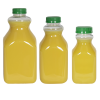 8 oz. Clear PET Square Bottles with 43mm Tamper Evident Caps - Case of 96