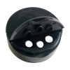 38/400 Black 3 Hole Dual Door Spice Cap with Heat Induction Liner