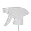 """28/400 White Polypropylene Retail Trigger Sprayer with 10"""" Dip Tube & .8mL Output"""