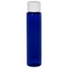 1 oz. Cobalt Blue Slim PET Cylinder Bottle with 20/410 Plain Cap