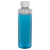 8 oz. Clear PET Cylindrical Bottle with 24/410 CRC Cap