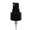 "24/410 Black Fine Mist Smooth Finger Sprayer - 7"" Dip Tube & 0.16mL Output"