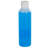 4 oz. HDPE Natural Cosmo Bottle with Plain 20/410 Cap with F217 Liner