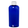 4 oz. Cobalt Blue PET Cosmo Oval Bottle with Plain 20/410 Cap