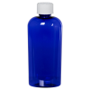 4 oz. Cobalt Blue PET Cosmo Oval Bottle with CRC 20/410 Cap