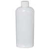 4 oz. White PET Cosmo Oval Bottle with Plain 20/410 Cap
