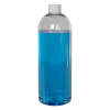 32 oz. Cosmo High Clarity Round Bottle with Plain 28/410 Cap with F217 Liner