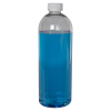 32 oz. Cosmo High Clarity Round Bottle with CRC 28/410 Cap with F217 Liner
