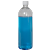 1 Liter Cosmo High Clarity Round Bottle with Plain 28/415 Cap with F217 Liner