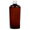 8.45 oz. Amber PET Vale High Clarity Oval Bottle with CRC 24/410 Cap