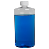 16 oz. Clear PET Oval Bottle with CRC 28/410 Cap