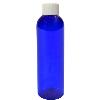 2 oz. Cobalt Blue PET Cosmo Round Bottle with Plain 20/410 Cap