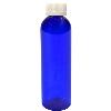 2 oz. Cobalt Blue PET Cosmo Round Bottle with CRC 20/410 Cap