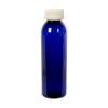 4 oz. Cobalt Blue PET Cosmo Round Bottle with CRC 24/410 Cap