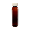 4 oz. Light Amber PET Cosmo Round Bottle with CRC 24/410 Cap