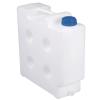 10 Liter Natural Polypropylene Compact Jerrican with Tamper Evident Cap