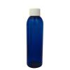 6 oz. Cobalt Blue PET Cosmo Round Bottle with Plain 24/410 Cap