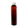 8 oz. Light Amber PET Cosmo Round Bottle with Plain 24/410 Cap