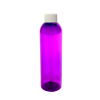 8 oz. Purple PET Cosmo Round Bottle with Plain 24/410 Cap