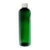 12 oz. Dark Green PET Cosmo Round Bottle with Plain 24/410 Cap