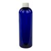 12 oz. Cobalt Blue PET Cosmo Round Bottle with Plain 24/410 Cap