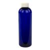 12 oz. Cobalt Blue PET Cosmo Round Bottle with CRC 24/410 Cap