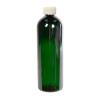 16 oz. Dark Green PET Cosmo Round Bottle with CRC 24/410 Cap